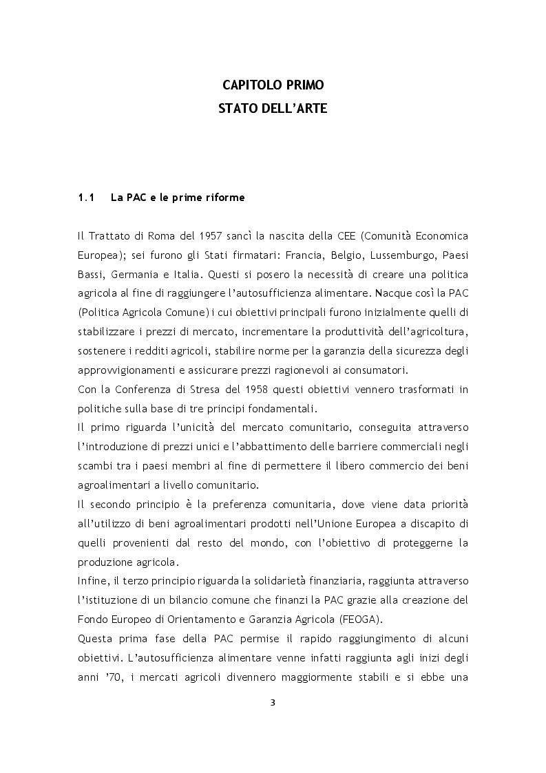 Anteprima della tesi: L'effetto della riforma Pac 2014-2020 sulle superfici agrarie in Italia, Pagina 4