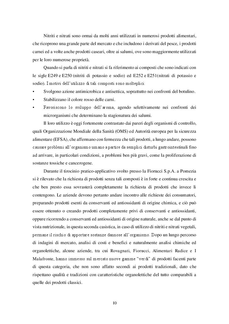 Anteprima della tesi: Uso dei Nitrati e Nitriti nell'industria dei salumi, Pagina 2