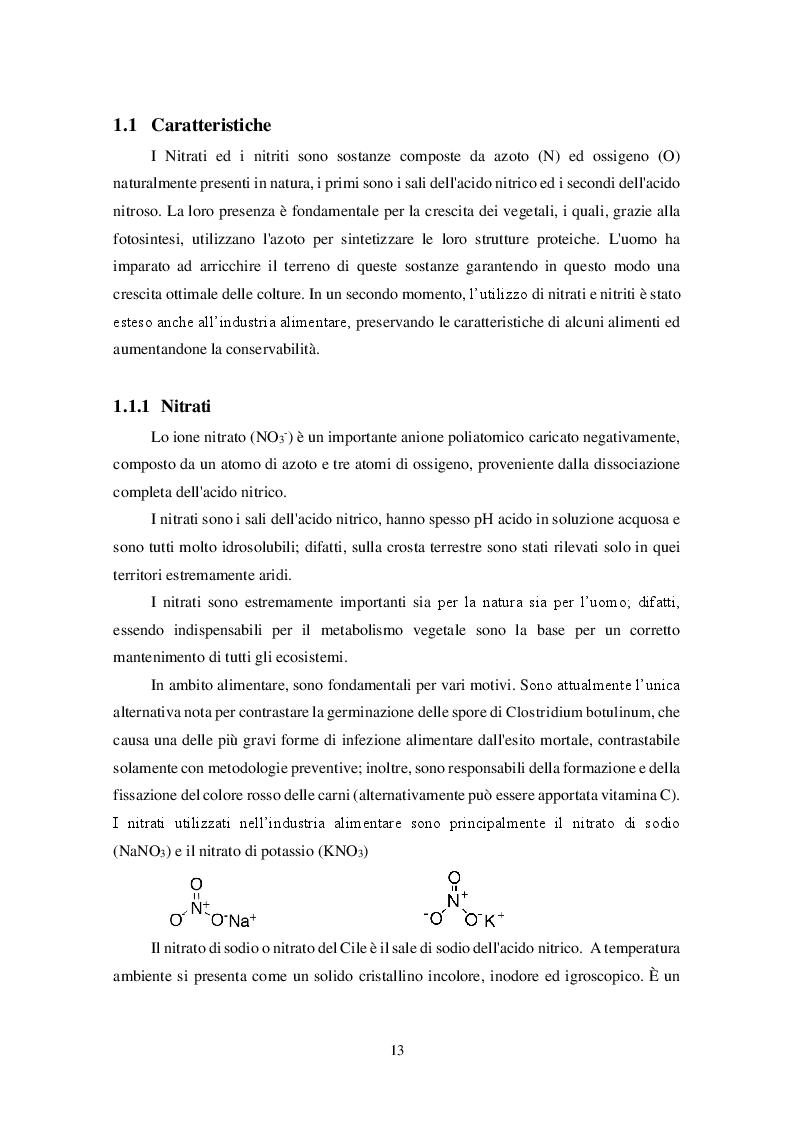 Anteprima della tesi: Uso dei Nitrati e Nitriti nell'industria dei salumi, Pagina 4