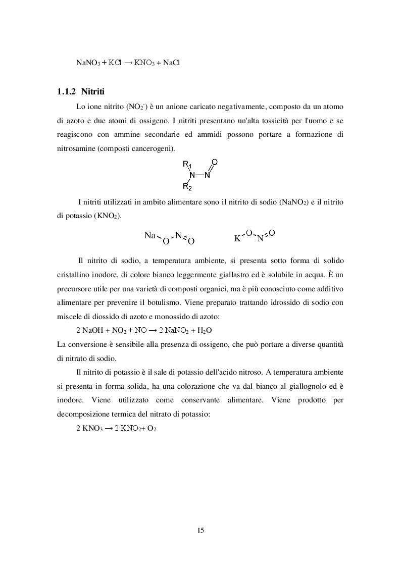Anteprima della tesi: Uso dei Nitrati e Nitriti nell'industria dei salumi, Pagina 6