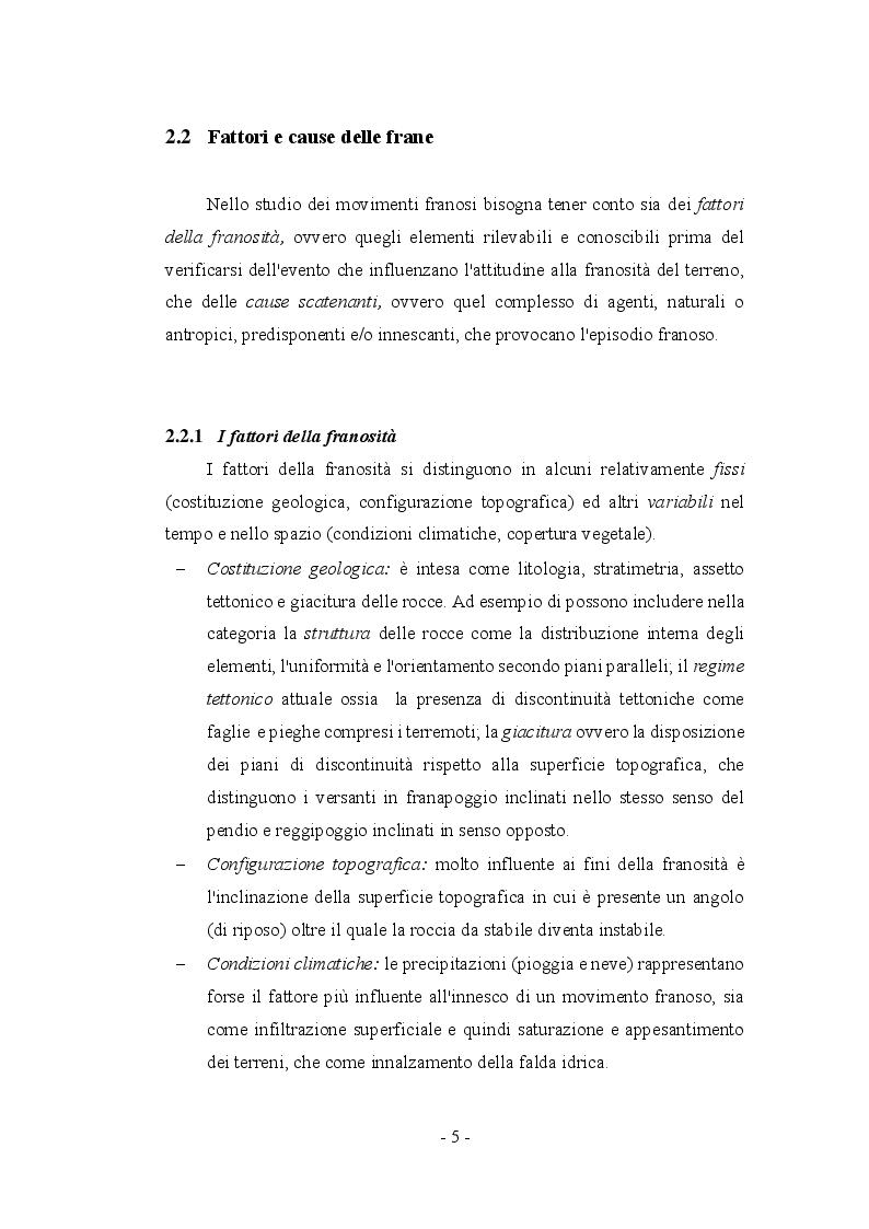 Anteprima della tesi: Fenomeni franosi: dall'analisi alla stabilizzazione, Pagina 2