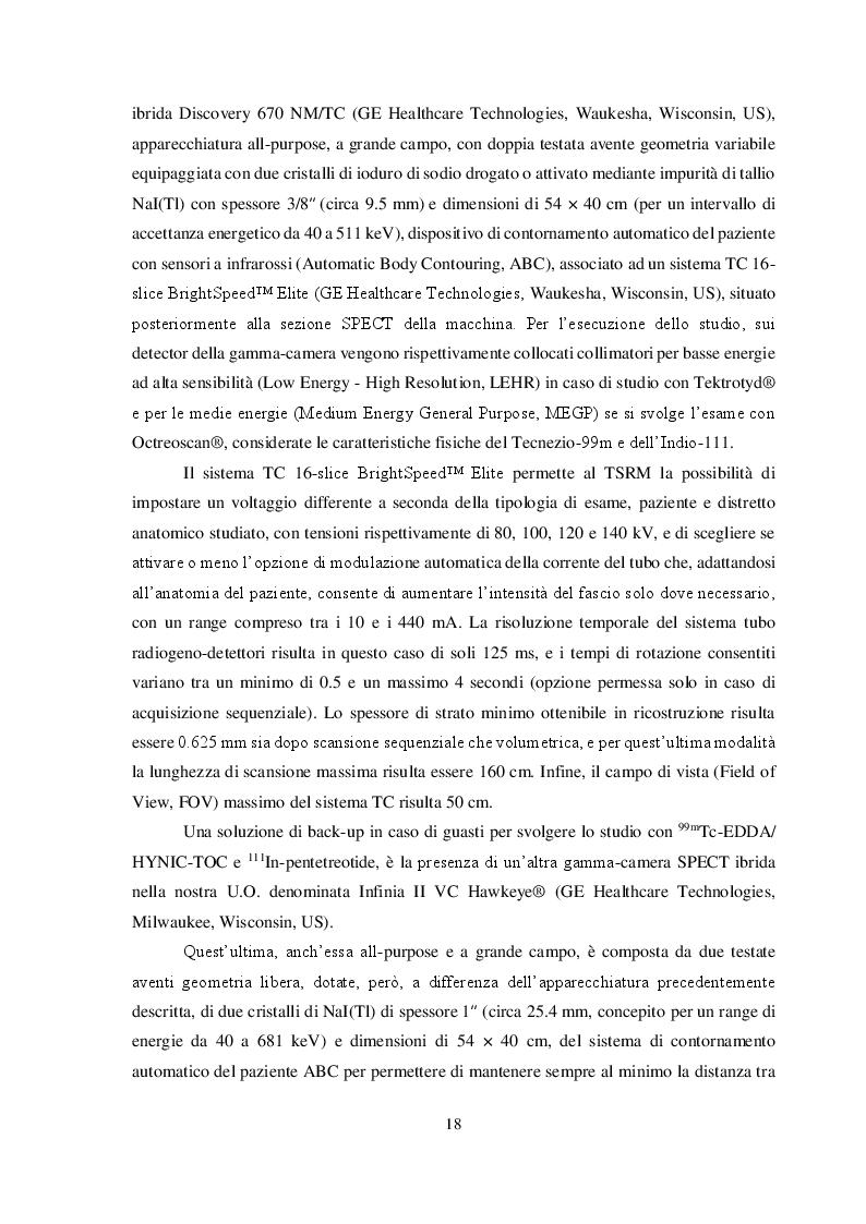 Anteprima della tesi: Imaging medico-nucleare con analoghi della somatostatina radiomarcati: Analisi comparativa degli aspetti tecnici, Pagina 3