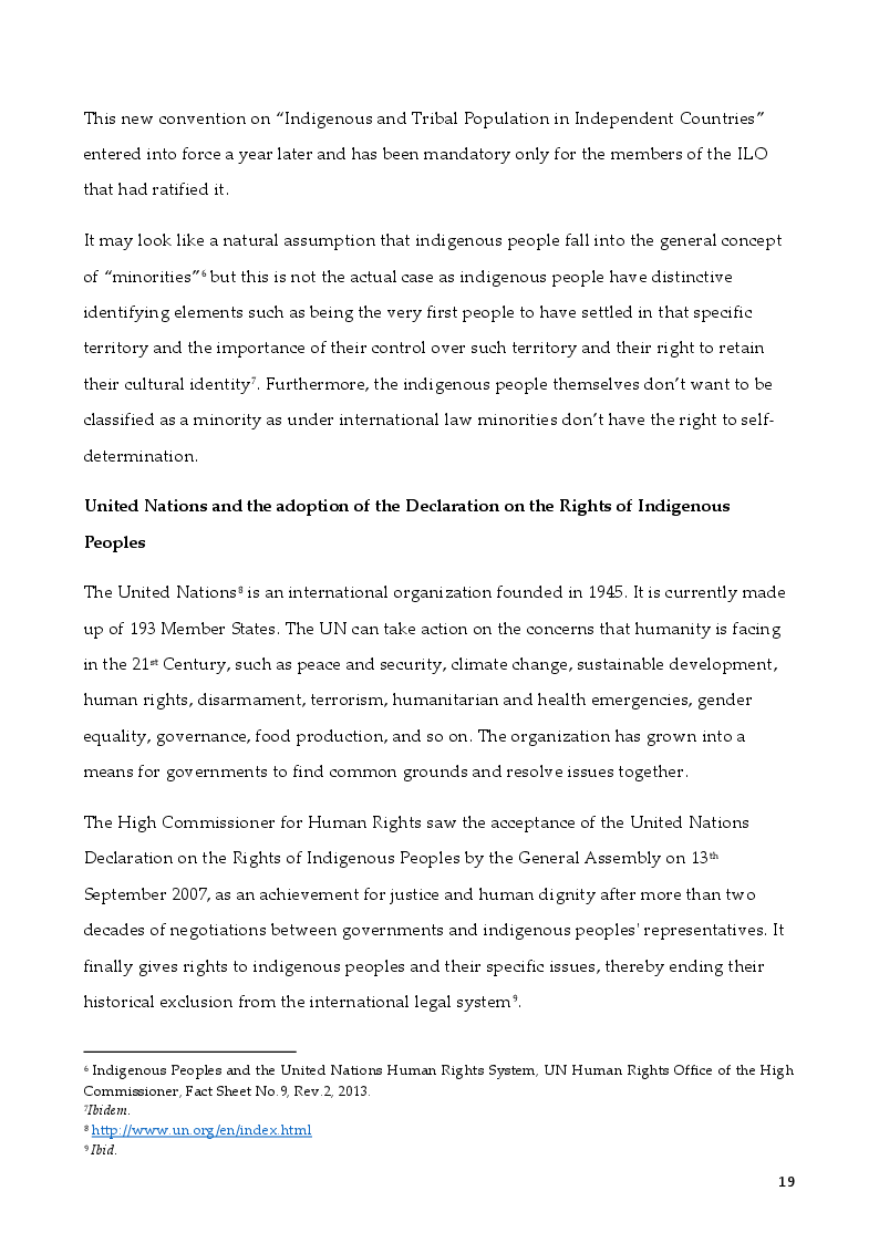 Estratto dalla tesi: The Rights of Indigenous Peoples: Mapuche case
