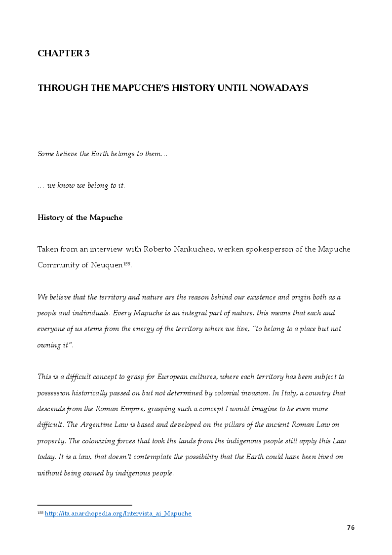 Anteprima della tesi: The Rights of Indigenous Peoples: Mapuche case, Pagina 2