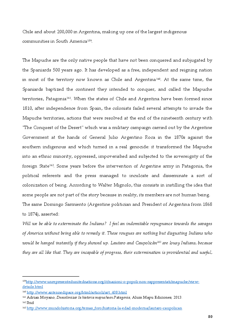 Anteprima della tesi: The Rights of Indigenous Peoples: Mapuche case, Pagina 6