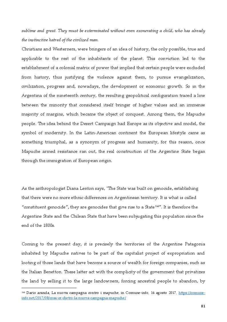 Anteprima della tesi: The Rights of Indigenous Peoples: Mapuche case, Pagina 7