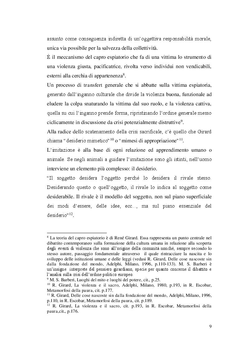 Anteprima della tesi: Paura dello straniero e simbolica dello spazio, Pagina 7