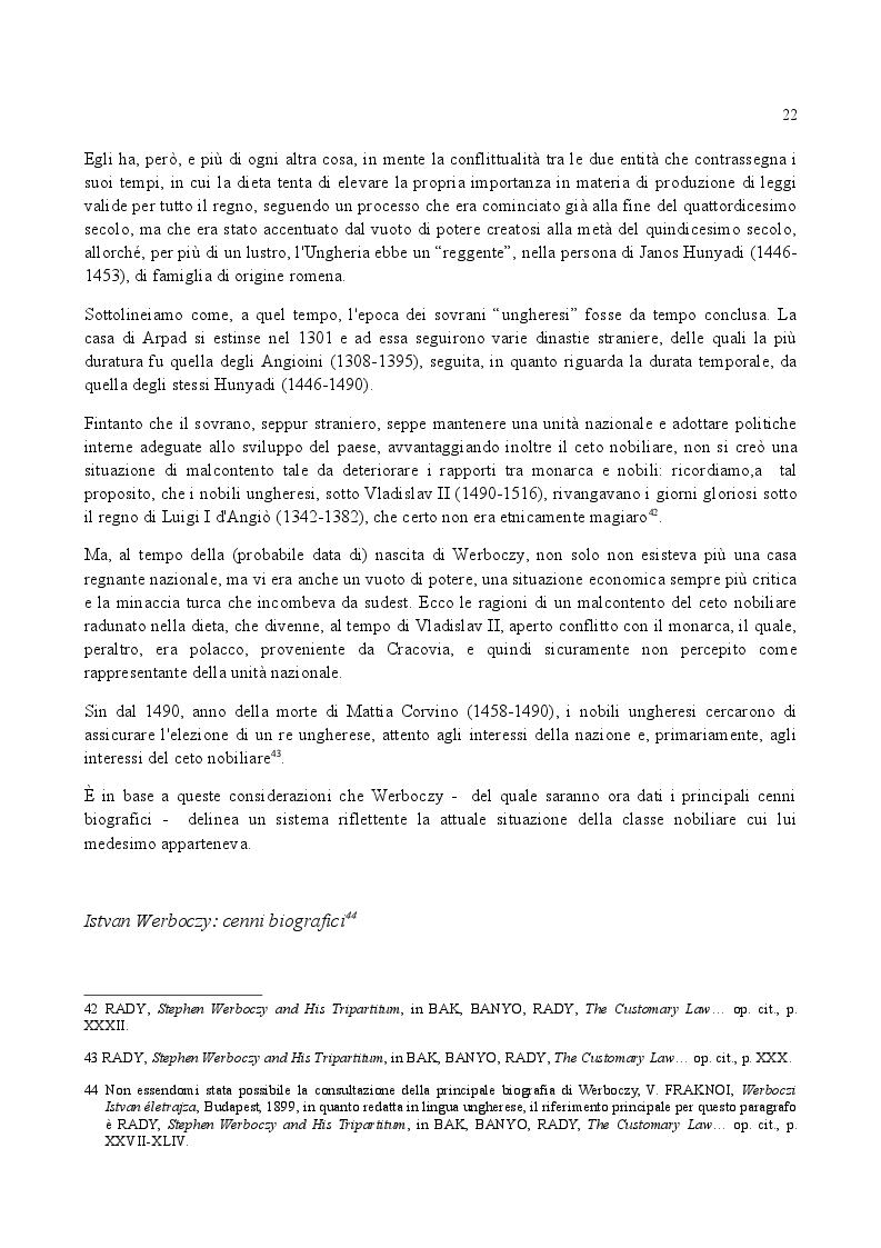 Estratto dalla tesi: Famiglia e Successioni in Ungheria tra tardo Medioevo e prima Età moderna: il Tripartitum di Istvan Werboczy (1517)