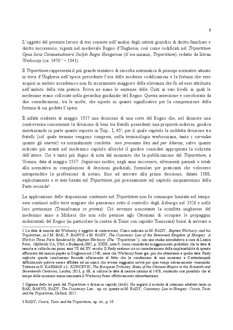 Anteprima della tesi: Famiglia e Successioni in Ungheria tra tardo Medioevo e prima Età moderna: il Tripartitum di Istvan Werboczy (1517), Pagina 2