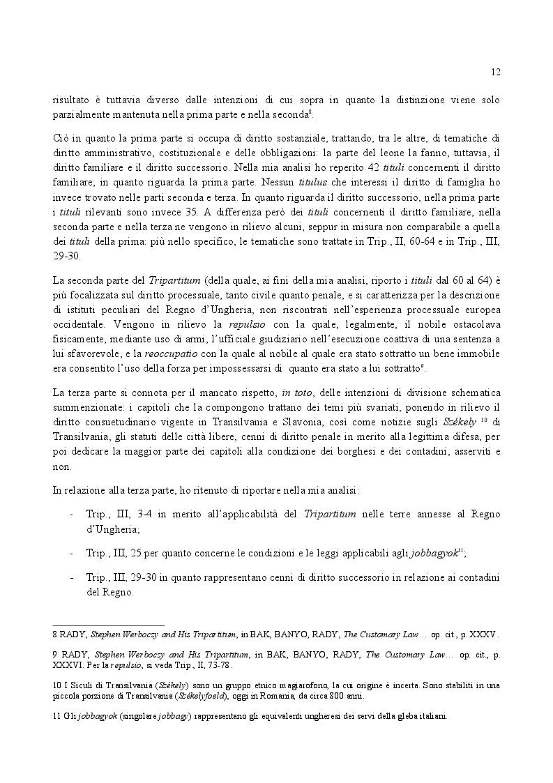 Anteprima della tesi: Famiglia e Successioni in Ungheria tra tardo Medioevo e prima Età moderna: il Tripartitum di Istvan Werboczy (1517), Pagina 5
