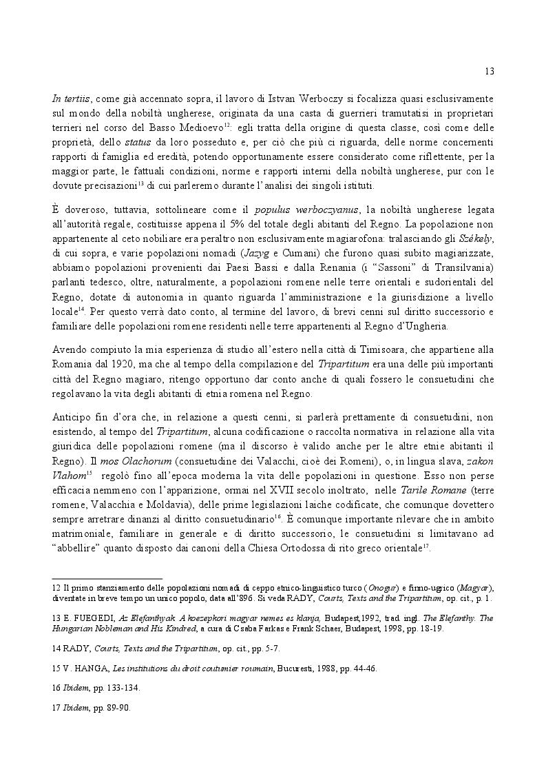Anteprima della tesi: Famiglia e Successioni in Ungheria tra tardo Medioevo e prima Età moderna: il Tripartitum di Istvan Werboczy (1517), Pagina 6