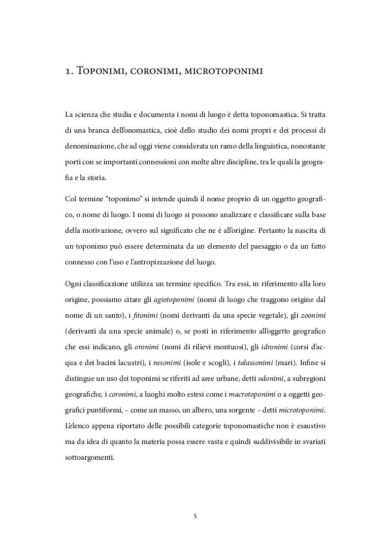 Anteprima della tesi: Il ruolo dei nomi di luogo nel processo di valorizzazione turistica, Pagina 4