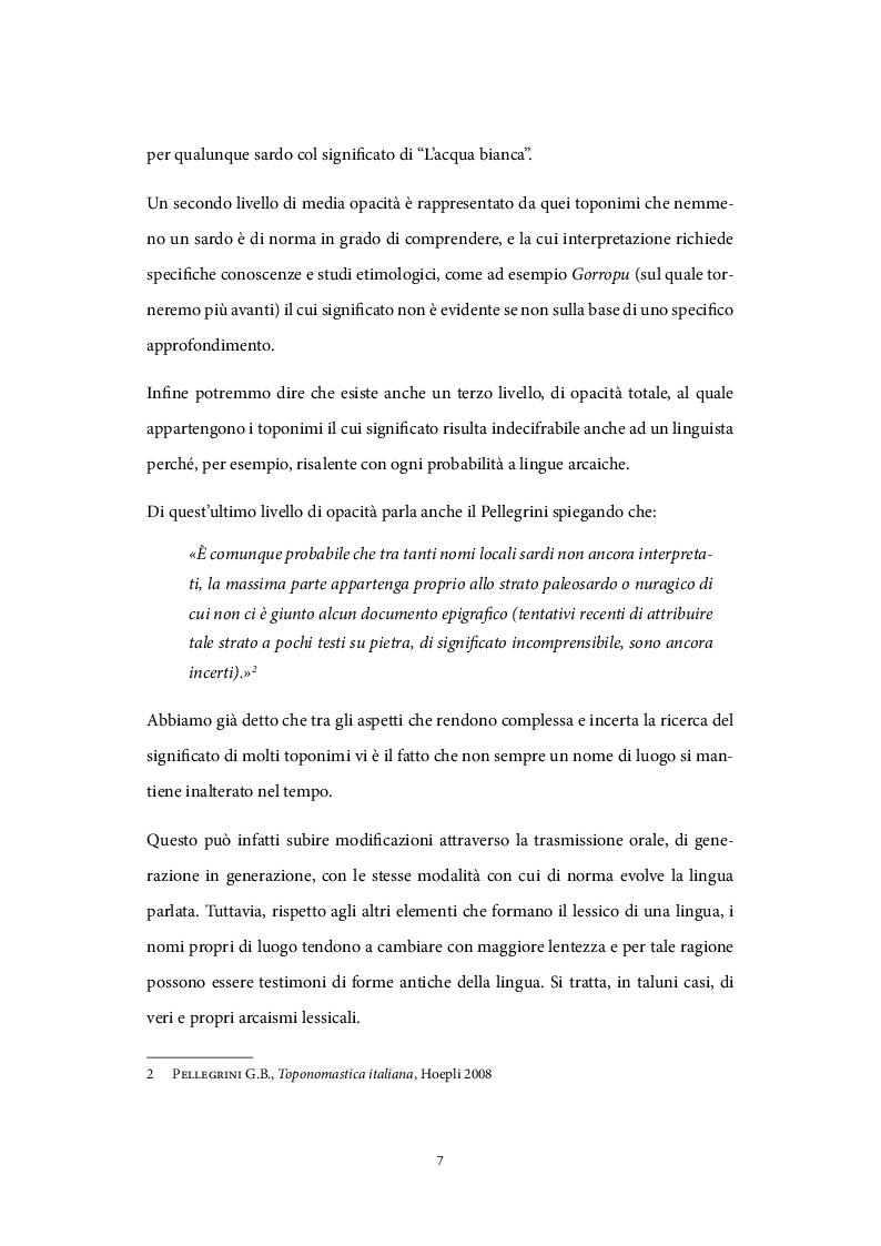 Anteprima della tesi: Il ruolo dei nomi di luogo nel processo di valorizzazione turistica, Pagina 6