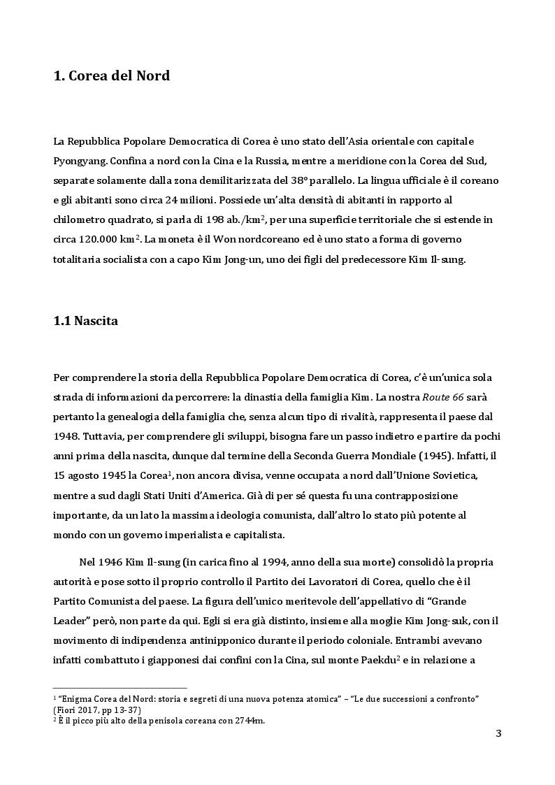 Anteprima della tesi: Analisi da un punto di vista sociologico e comunicativo del regime di Kim Jong-un, Pagina 4