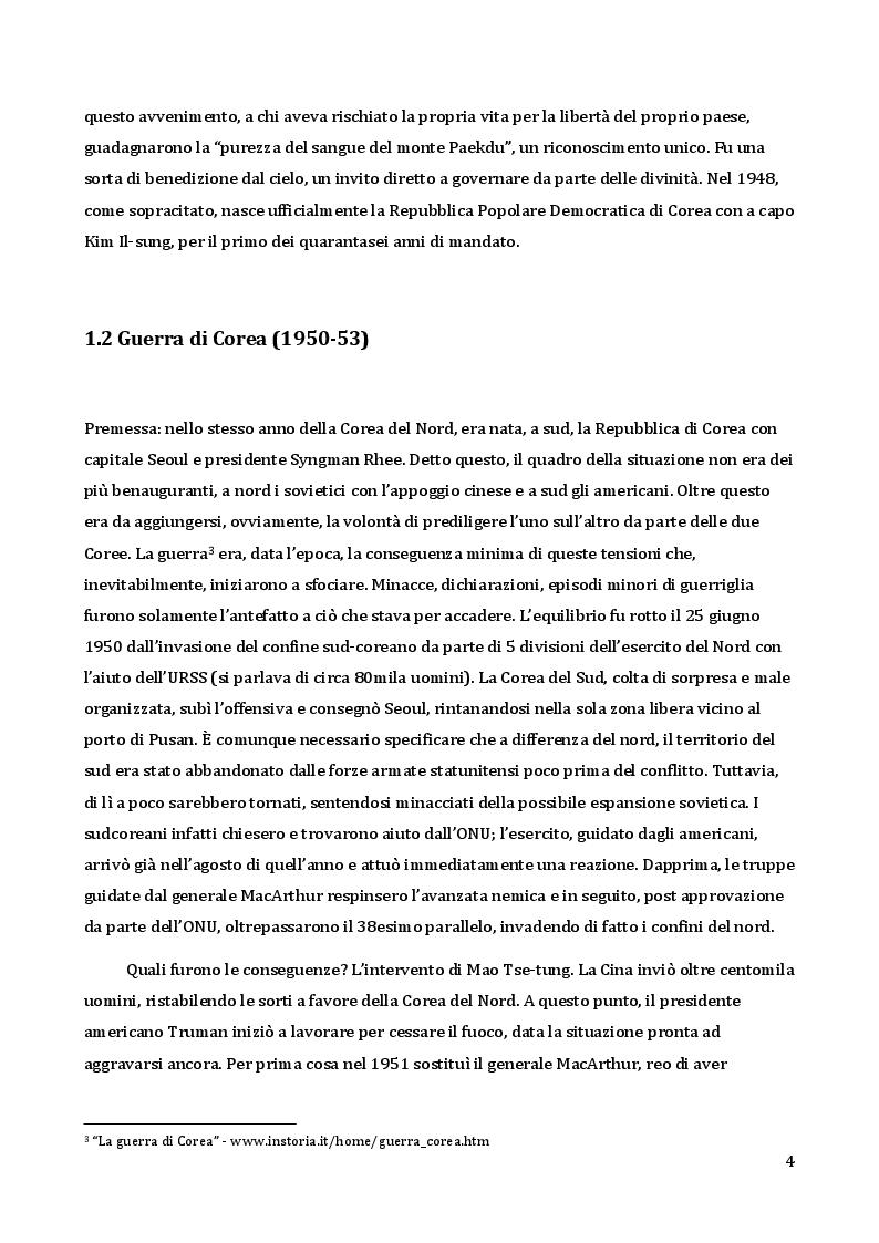 Anteprima della tesi: Analisi da un punto di vista sociologico e comunicativo del regime di Kim Jong-un, Pagina 5