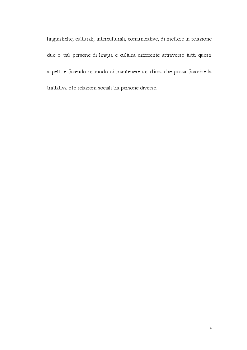 Anteprima della tesi: La Comunicazione Interculturale: le difficoltà dell'interprete di trattativa tra prossemica e cinesica, Pagina 5