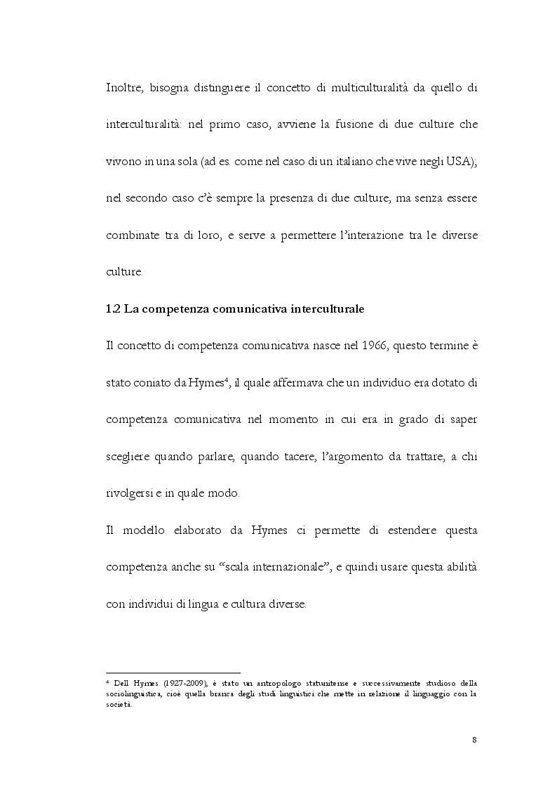 Anteprima della tesi: La Comunicazione Interculturale: le difficoltà dell'interprete di trattativa tra prossemica e cinesica, Pagina 9