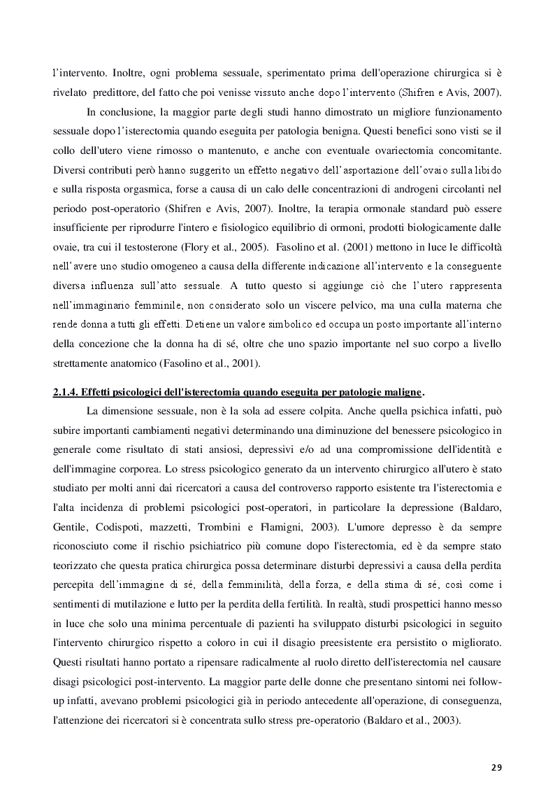 Anteprima della tesi: Isterectomia, ovariectomia e mastectomia: conseguenze psicologiche, sessuali, sociali e strategie d'intervento, Pagina 5
