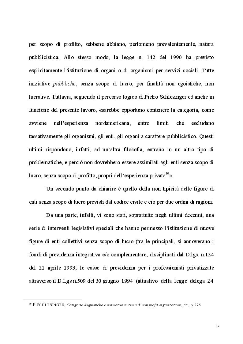 Anteprima della tesi: L'esercizio dell'attività d'impresa da parte delle Associazioni e delle Fondazioni, Pagina 3