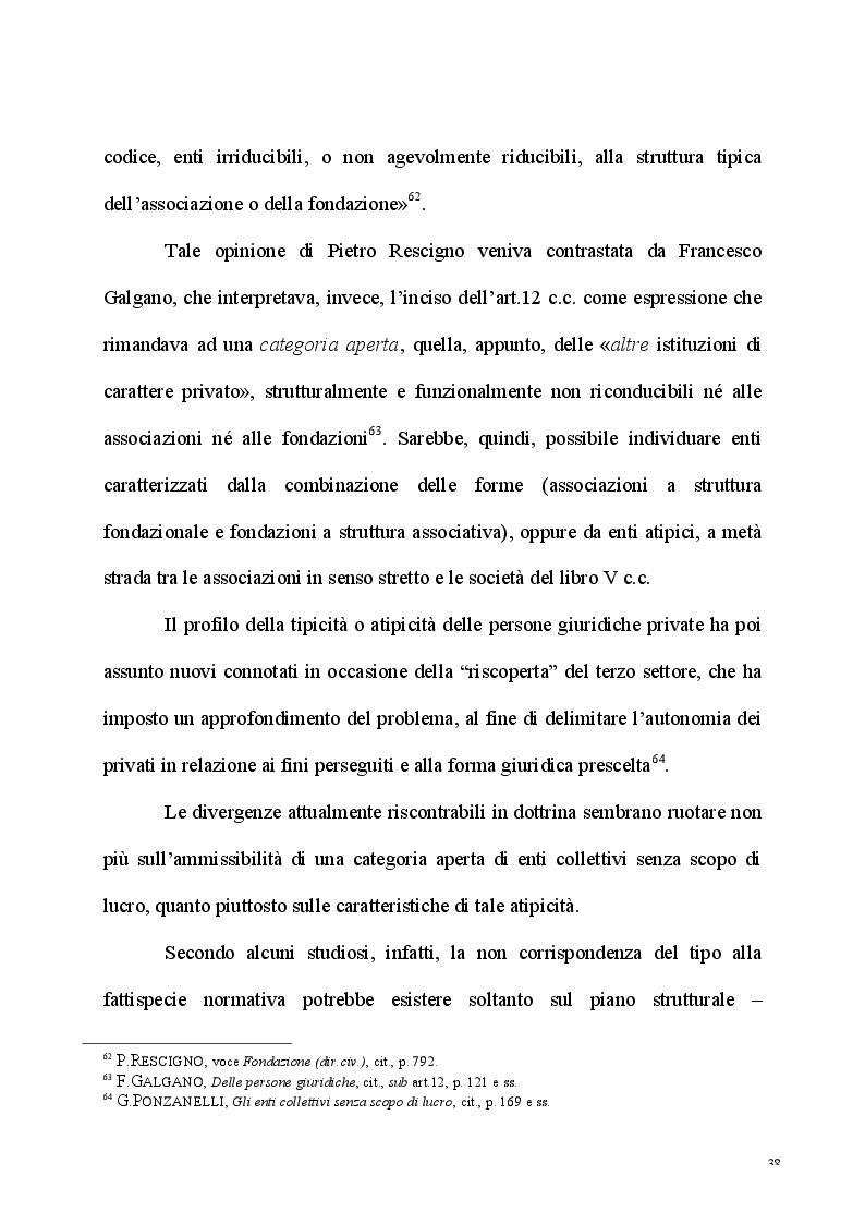 Anteprima della tesi: L'esercizio dell'attività d'impresa da parte delle Associazioni e delle Fondazioni, Pagina 6