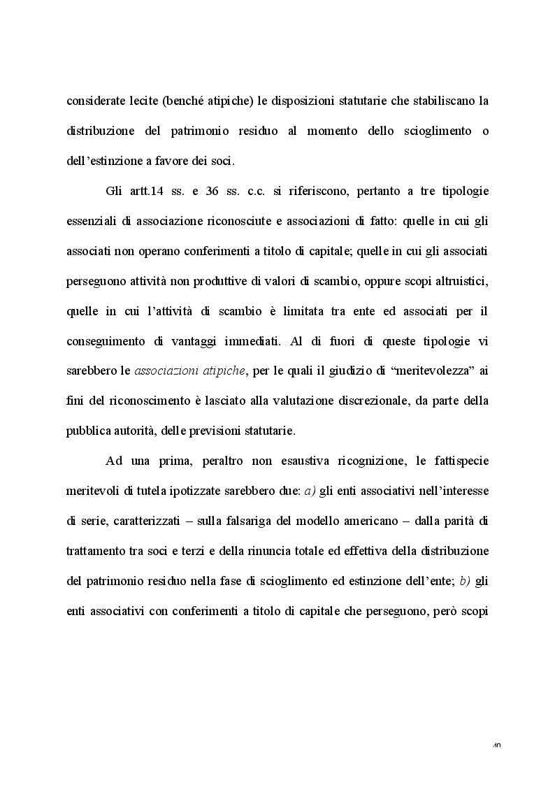 Anteprima della tesi: L'esercizio dell'attività d'impresa da parte delle Associazioni e delle Fondazioni, Pagina 8