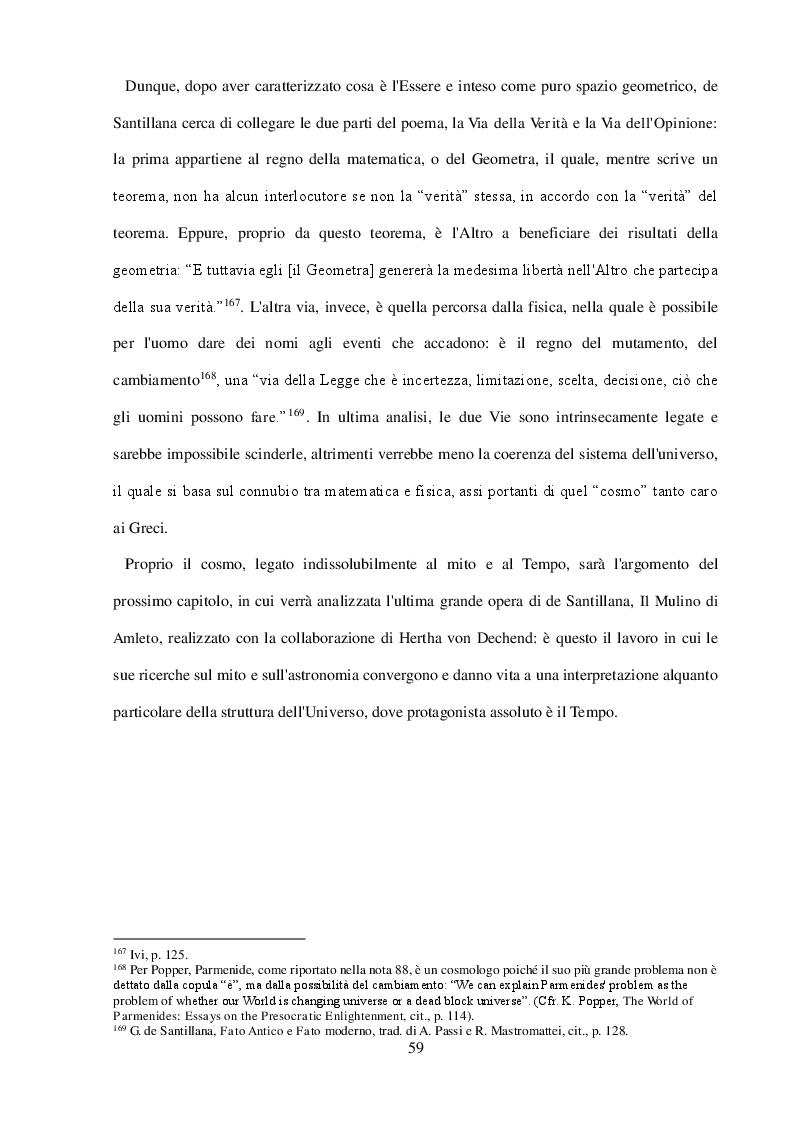Anteprima della tesi: ''Arte della Fuga'': Scienza e Mito in Giorgio de Santillana, Pagina 6