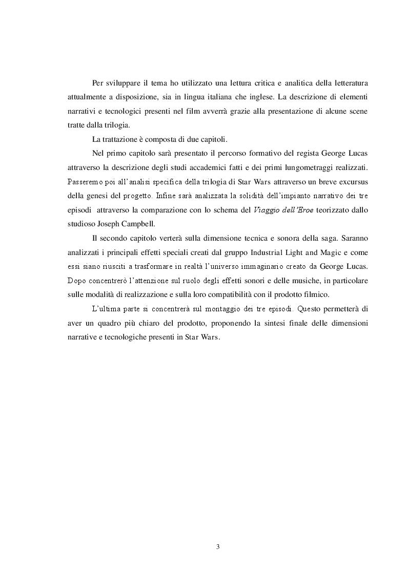 Anteprima della tesi: Star Wars, un successo di narrazione e tecnologia, Pagina 3