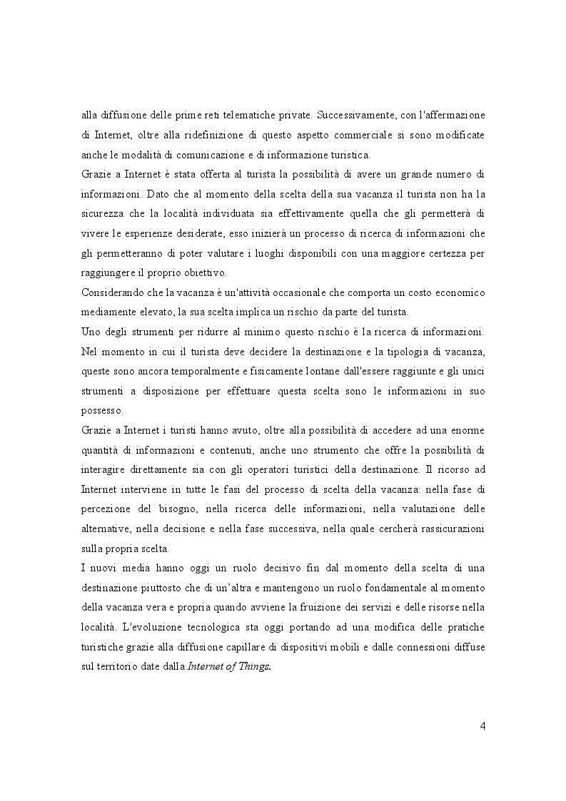 Anteprima della tesi: Turismo e media digitali: Smart tourism e sue applicazioni, Pagina 3