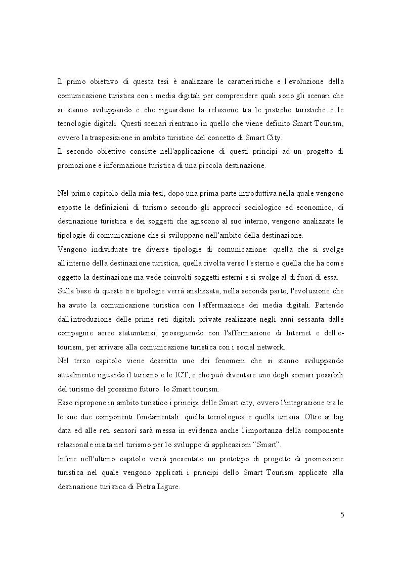 Anteprima della tesi: Turismo e media digitali: Smart tourism e sue applicazioni, Pagina 4