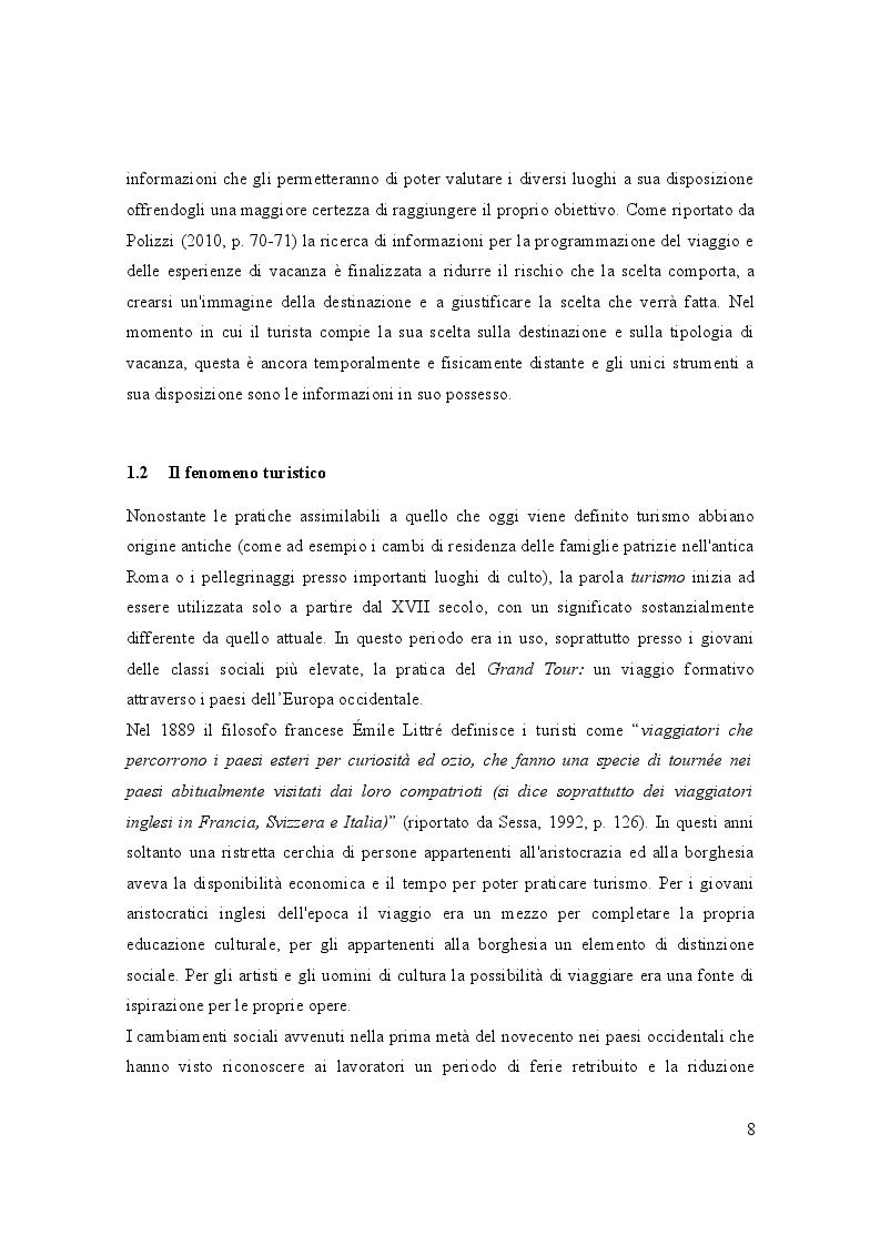Anteprima della tesi: Turismo e media digitali: Smart tourism e sue applicazioni, Pagina 7