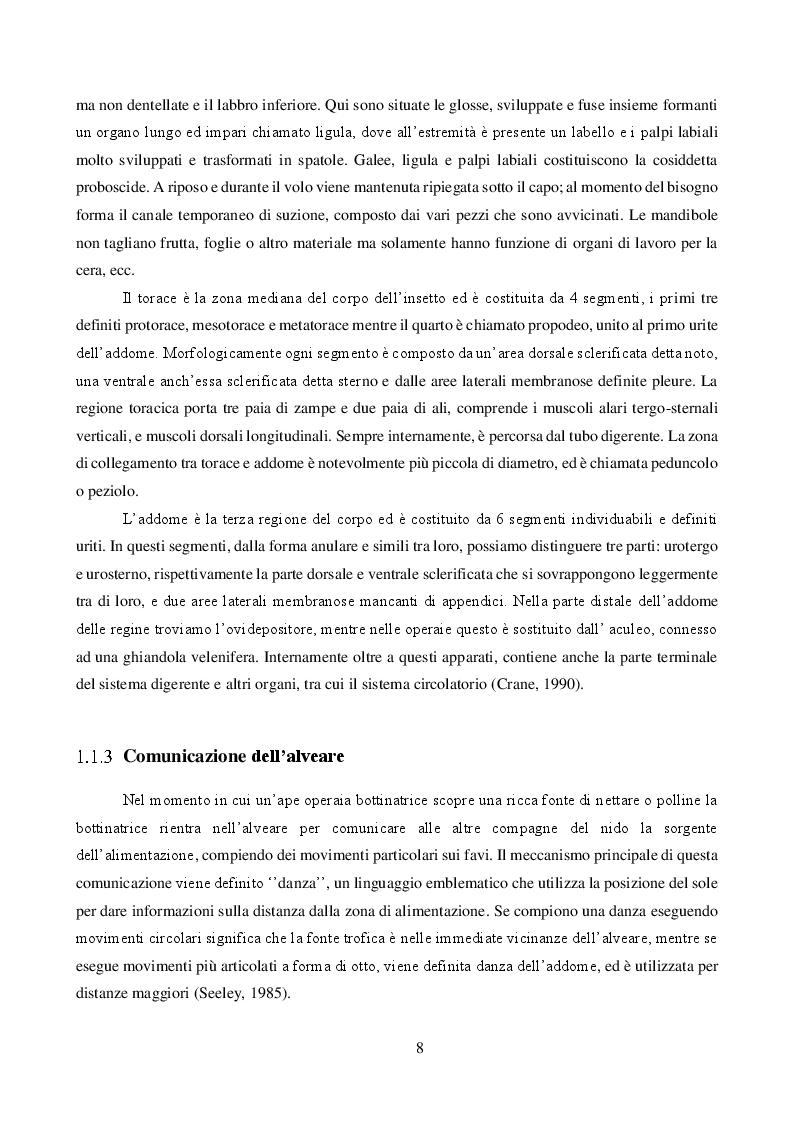 Anteprima della tesi: Effetto combinato dei pesticidi neonicotinoidi e della qualità dell'alimentazione sul metabolismo dei carboidrati in Apis mellifera, Pagina 5