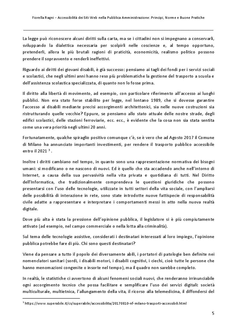 Anteprima della tesi: Accessibilità dei Siti Web nella Pubblica Amministrazione: Principi, Norme e Buone Pratiche, Pagina 4