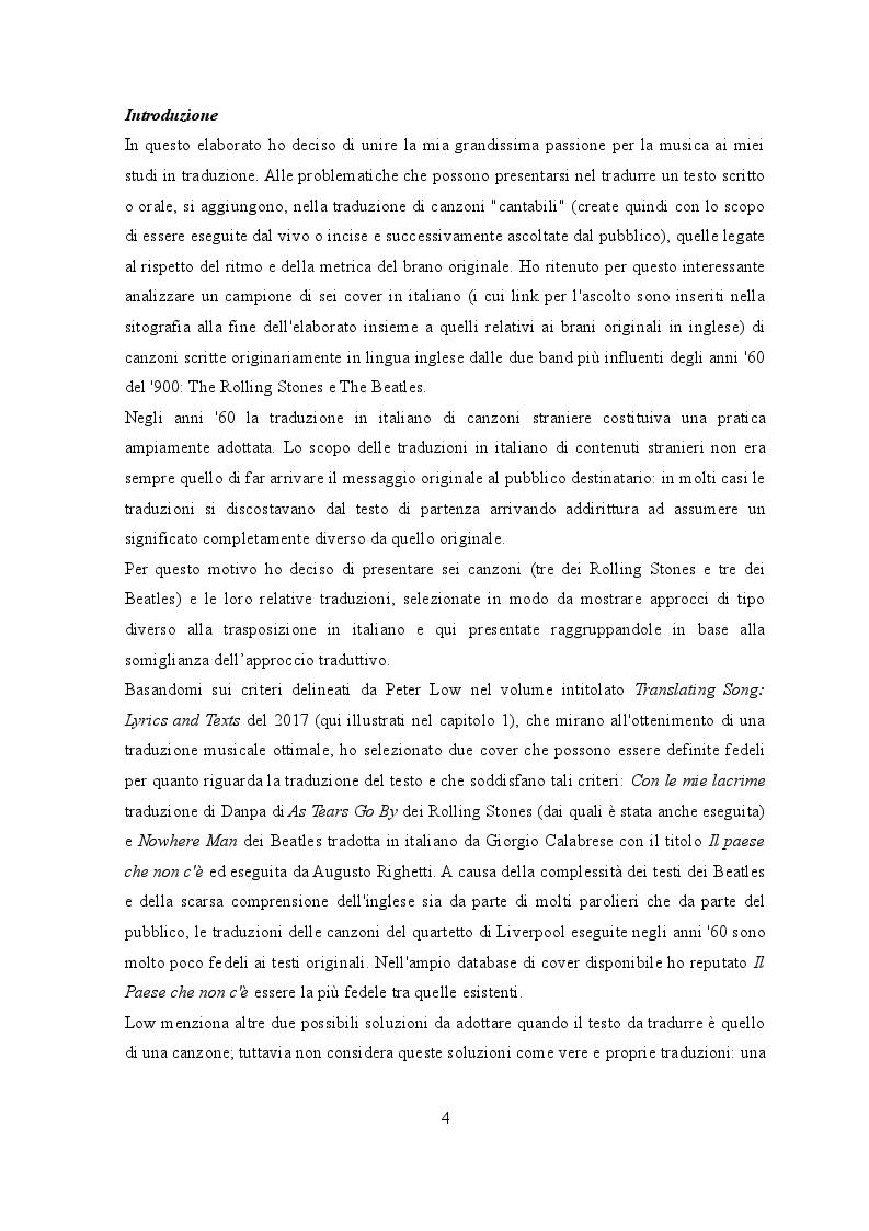 Anteprima della tesi: Traduzione e musica: il caso Rolling Stones e Beatles, Pagina 2