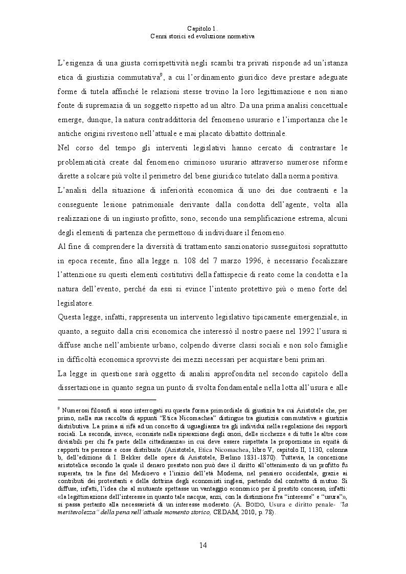 Anteprima della tesi: L'usura bancaria: la disciplina penalistica e i riflessi economici, Pagina 7