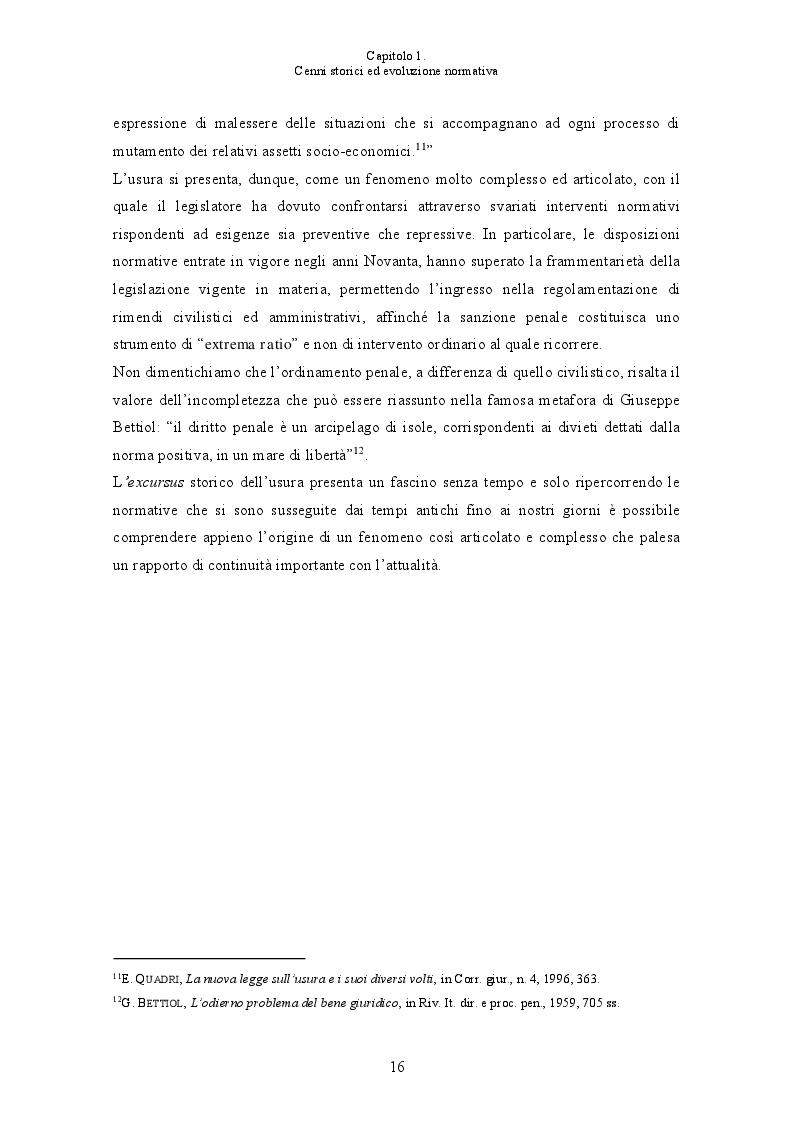 Anteprima della tesi: L'usura bancaria: la disciplina penalistica e i riflessi economici, Pagina 9