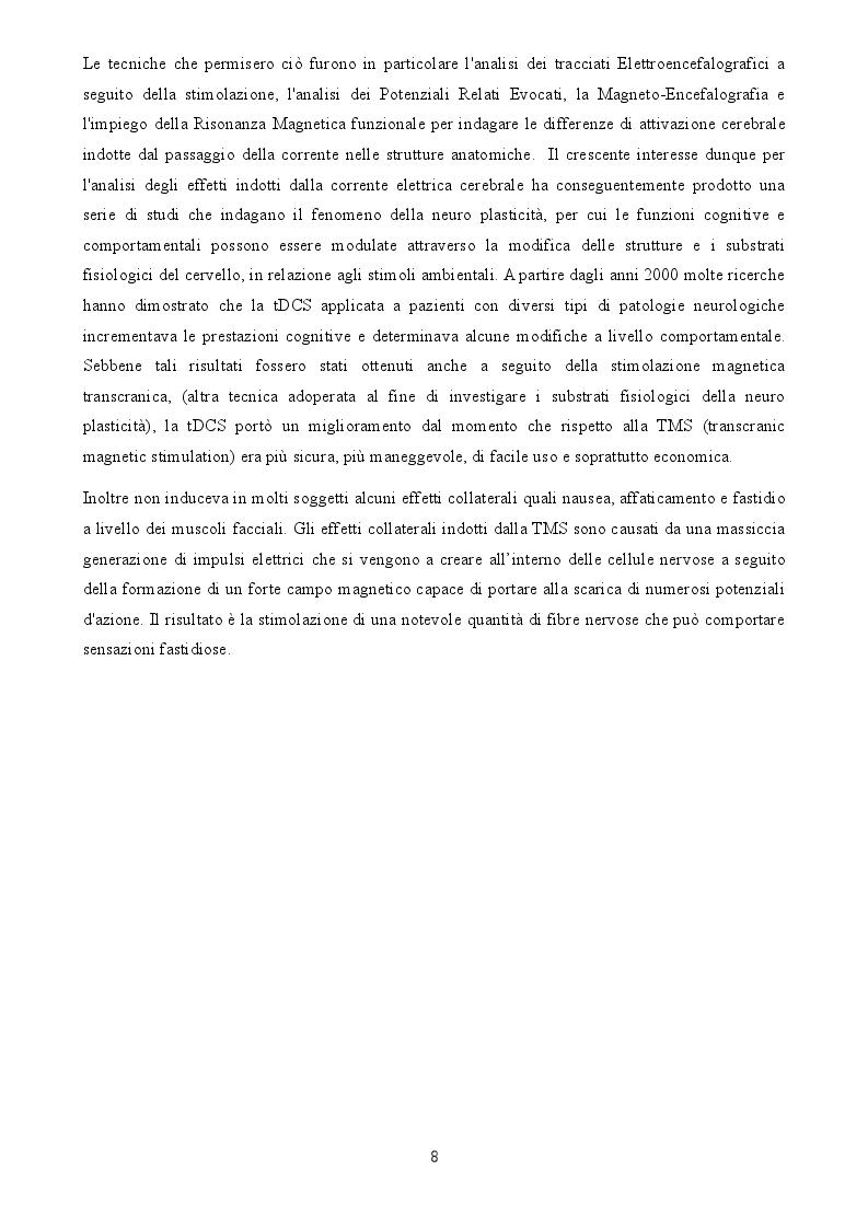 Anteprima della tesi: Uno studio degli effetti della tDCS sui processi di apprendimento visuo-spaziale, Pagina 3