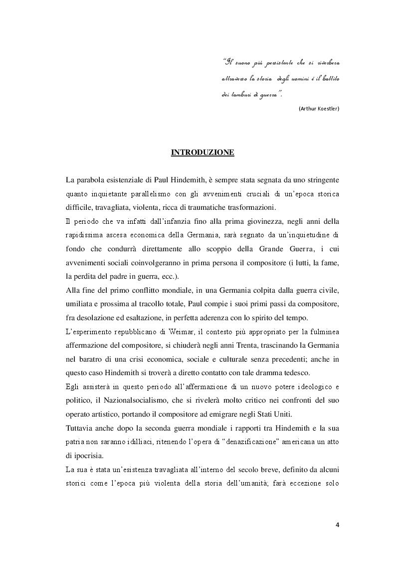 Anteprima della tesi: P. Hindemith: l'eclettismo irriverente degli Anni Venti. Rifondazione armonica e sguardo al passato nel Terzo Reich, Pagina 2