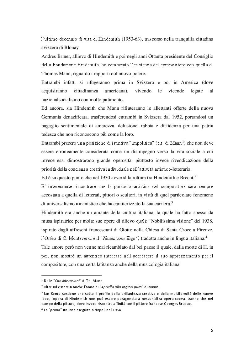 Anteprima della tesi: P. Hindemith: l'eclettismo irriverente degli Anni Venti. Rifondazione armonica e sguardo al passato nel Terzo Reich, Pagina 3