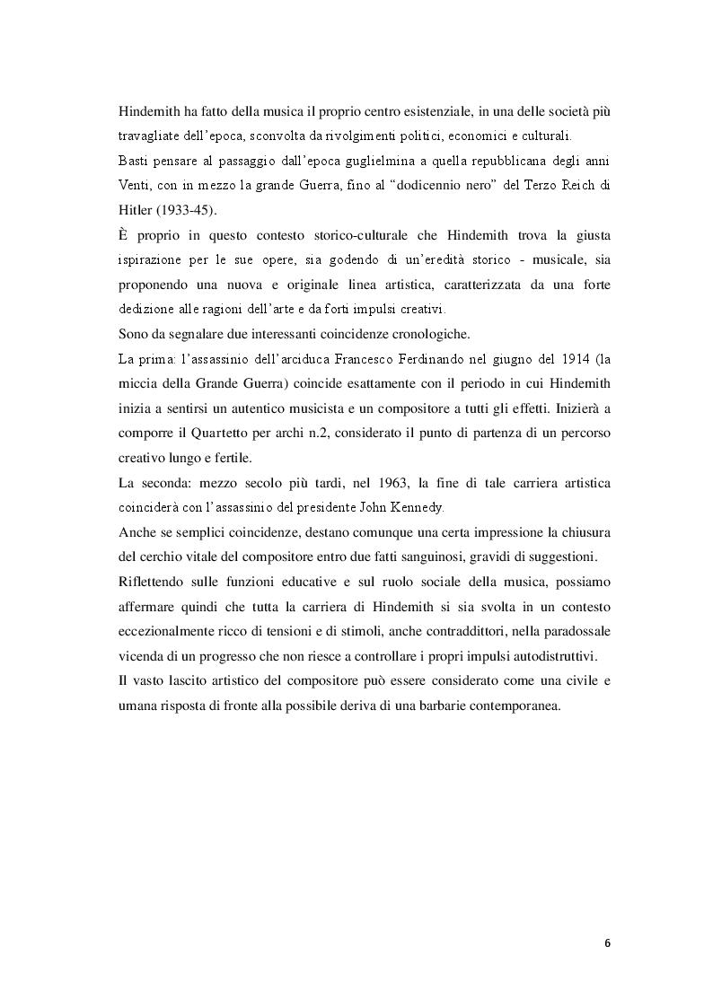 Anteprima della tesi: P. Hindemith: l'eclettismo irriverente degli Anni Venti. Rifondazione armonica e sguardo al passato nel Terzo Reich, Pagina 4
