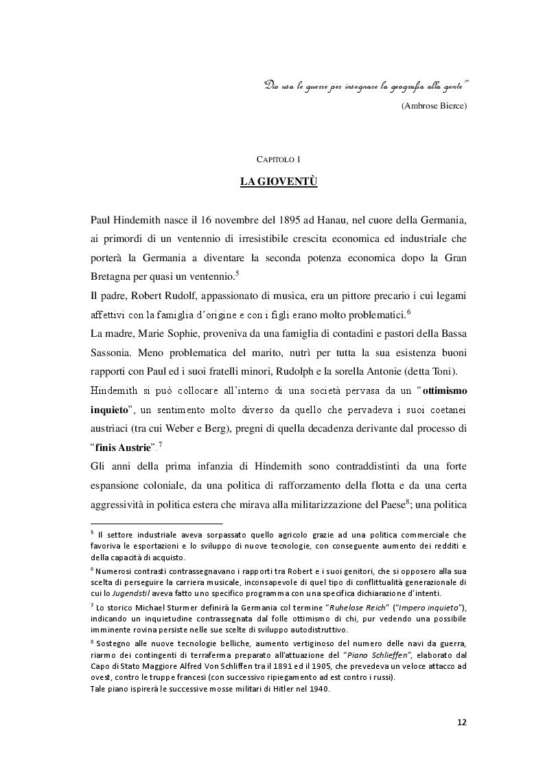 Anteprima della tesi: P. Hindemith: l'eclettismo irriverente degli Anni Venti. Rifondazione armonica e sguardo al passato nel Terzo Reich, Pagina 5