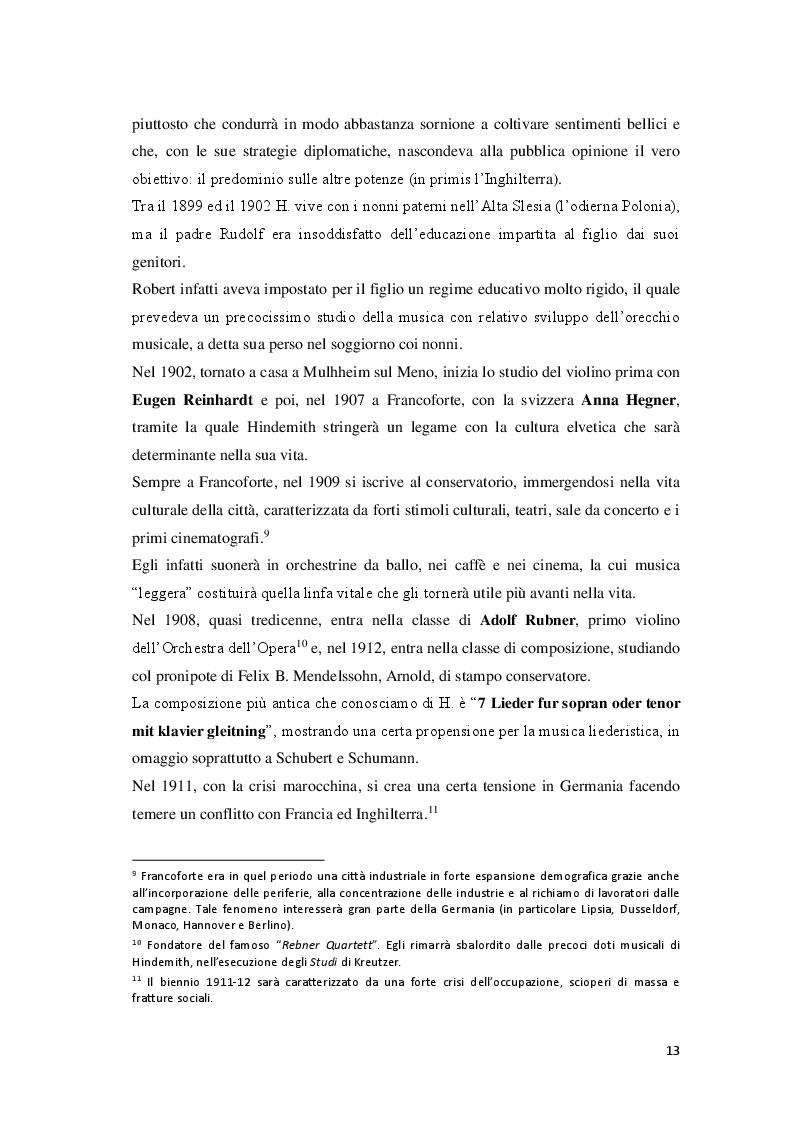 Anteprima della tesi: P. Hindemith: l'eclettismo irriverente degli Anni Venti. Rifondazione armonica e sguardo al passato nel Terzo Reich, Pagina 6