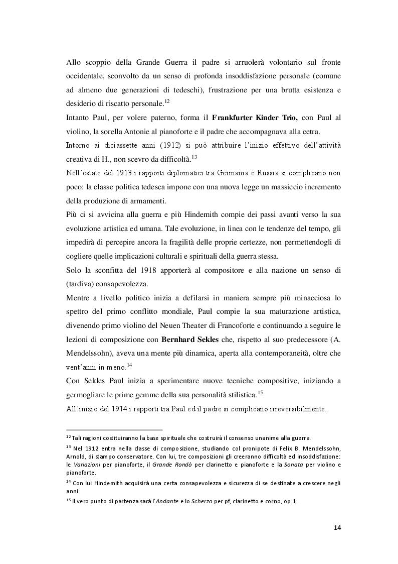 Anteprima della tesi: P. Hindemith: l'eclettismo irriverente degli Anni Venti. Rifondazione armonica e sguardo al passato nel Terzo Reich, Pagina 7