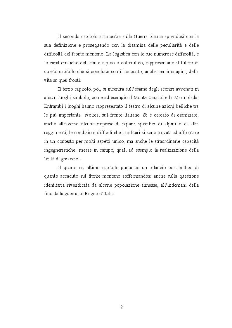 Anteprima della tesi: La guerra bianca del fronte alpino, Pagina 3