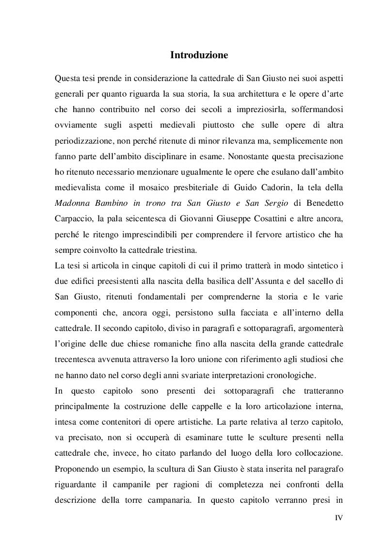 Anteprima della tesi: La cattedrale di San Giusto a Trieste, Pagina 2