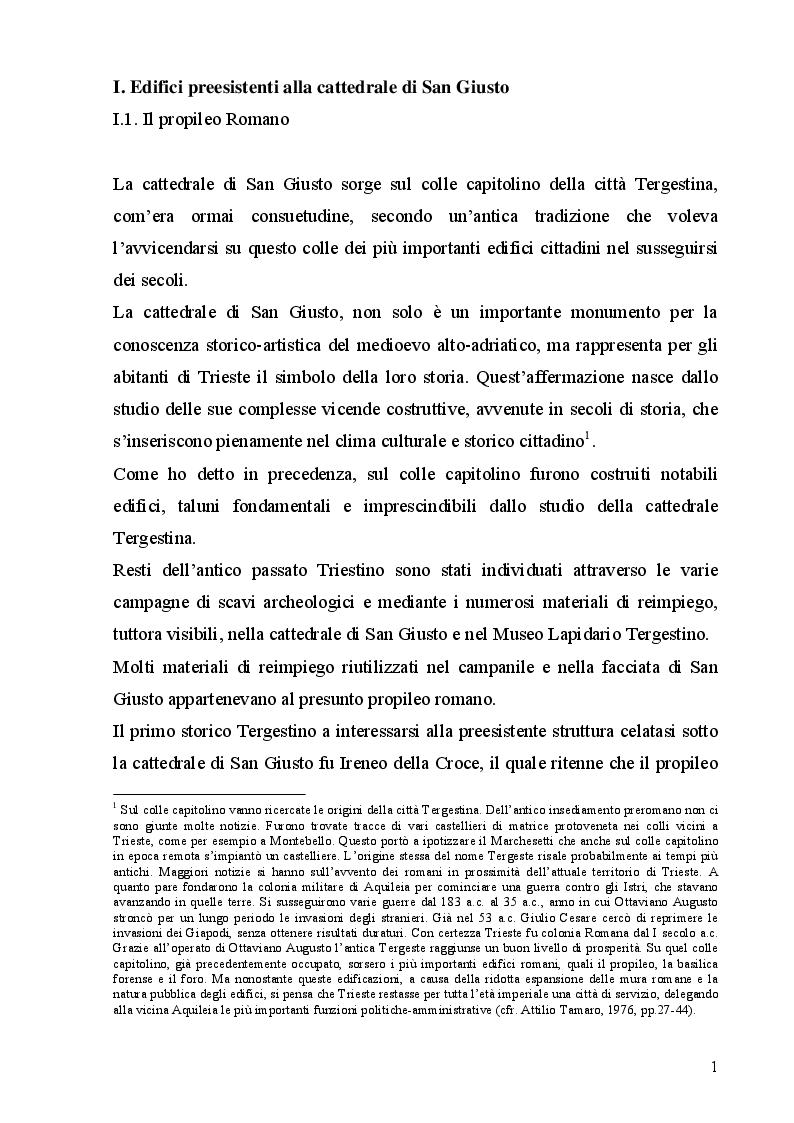 Anteprima della tesi: La cattedrale di San Giusto a Trieste, Pagina 5