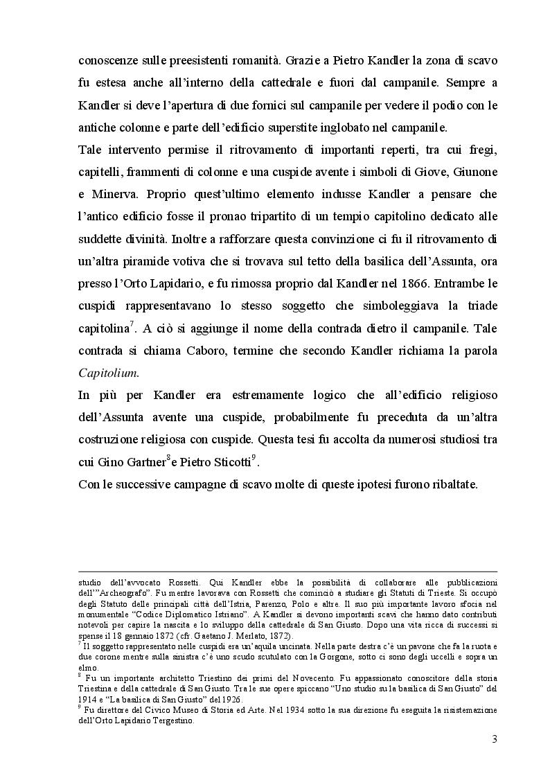 Anteprima della tesi: La cattedrale di San Giusto a Trieste, Pagina 7