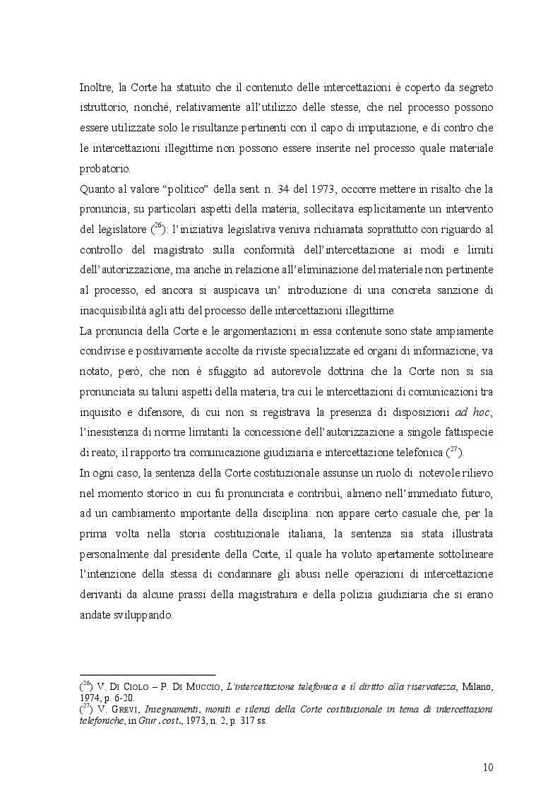 Estratto dalla tesi: Le intercettazioni (passato, presente e futuro tecnologico)