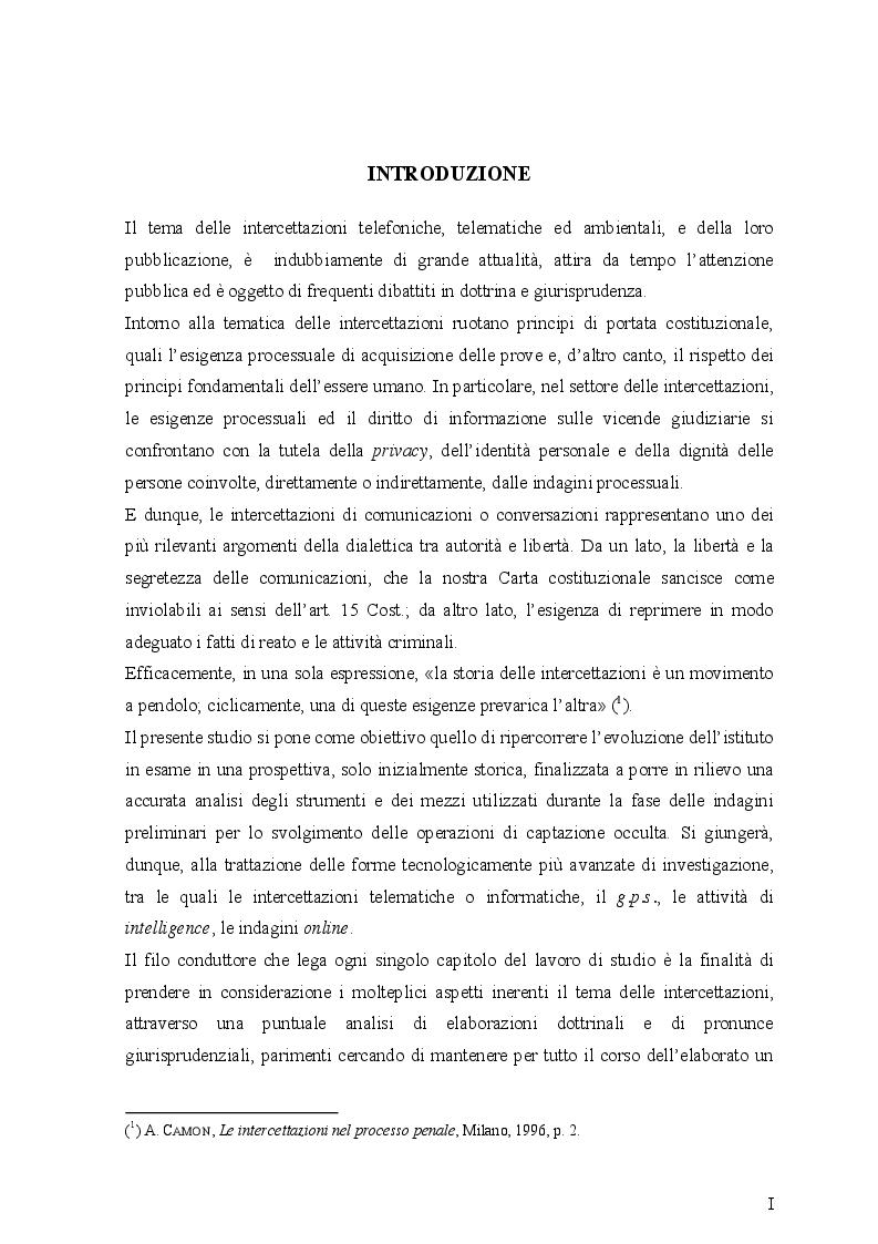 Anteprima della tesi: Le intercettazioni (passato, presente e futuro tecnologico), Pagina 2