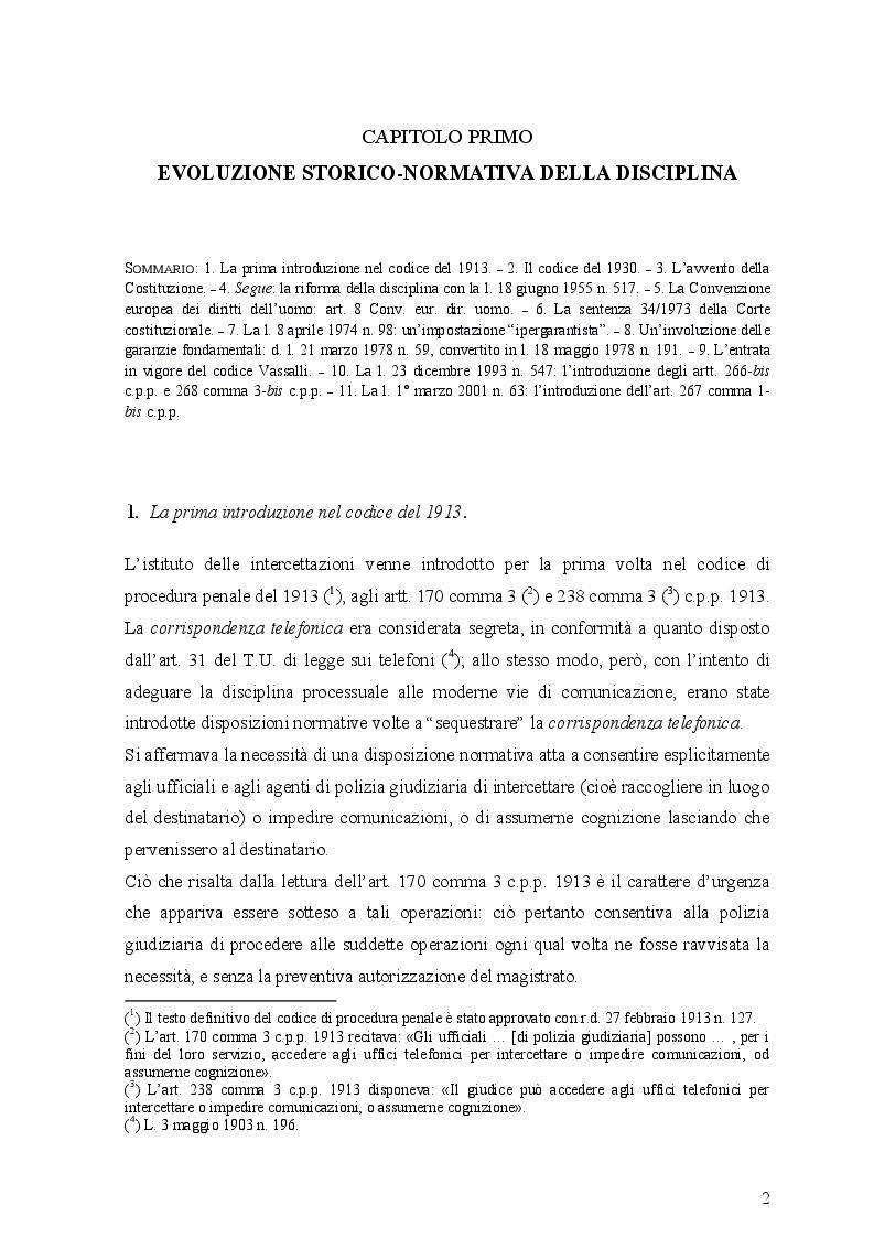 Anteprima della tesi: Le intercettazioni (passato, presente e futuro tecnologico), Pagina 6