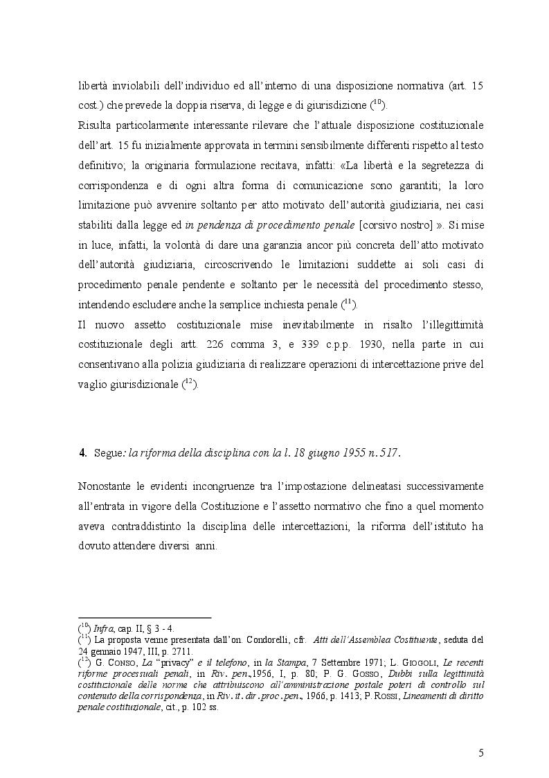 Anteprima della tesi: Le intercettazioni (passato, presente e futuro tecnologico), Pagina 9